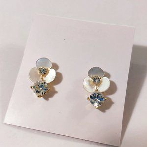 Kate Spade Shell Flower Gemstone Earrings